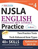 New Jersey Student Learning Assessments (NJSLA) Test Practice: Grade 4 English Language Arts Literacy (ELA) Practice Workbook and Full-length Online Assessments: New Jersey Test Study Guide