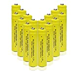 Generic 1.2v AAA NiCd 600mAh Rechargeable Battery for Solar light Lamp Yellow Color ( Pack of 16pcs AAA NI-CD Batteries)