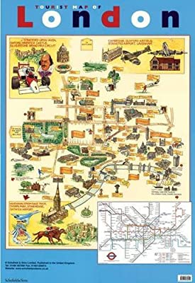 Touristic Map Of London.Tourist Map Of London Laminated Poster Schofield Sims