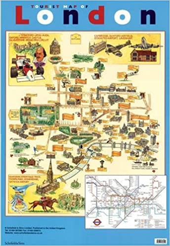 London Map Tourist.Tourist Map Of London Amazon Co Uk Schofield Sims Ltd
