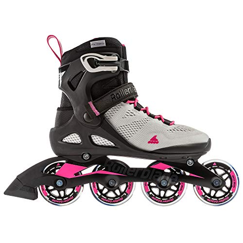 Rollerblade Macroblade 80 Women's Adult Fitness Inline Skate, Cool Grey/Candy Pink, 9
