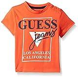 GUESS Baby Boys' Short Sleeve Logo T-Shirt, Hot Coral, 24M