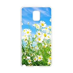 Custom Daisy Phone Case, Custom Hard Back Cover Case for Samsung Galaxy Note 4 Daisy