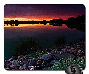 Lake Of Color Mouse Pad, Mousepad (Lakes Mouse Pad, Watercolor style) by icecream design