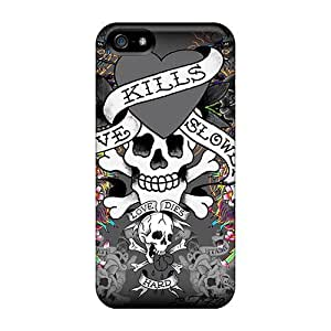 Hot Snap-on Ed Hardy 6 Hard Cover Case/ Protective Case For Iphone 5/5s Kimberly Kurzendoerfer