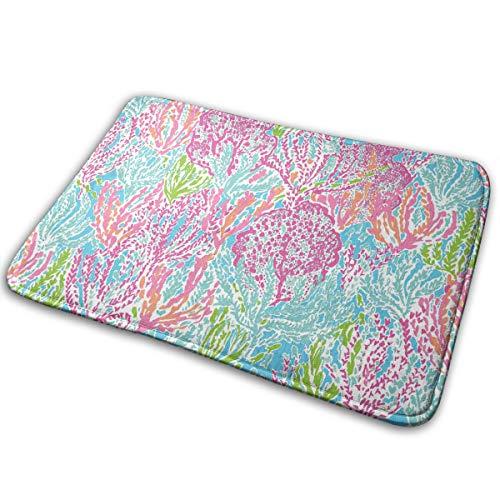 Lilly Flowers Memory Foam Bath Mat - Non Slip Absorbent Rug Carpet for Indoor/Outdoor/Frontdoor/Bedroom/Livingroom/Kitchen