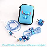 ZOEAST(TM) DIY Protectors Apple Lightning Data Cable USB Charger Data Line Earphone Wire Saver Protector Compatible iPhone 5 5S SE 6 6S 7 8 Plus X IPad iPod iWatch (Upgrade Styles, Stitch)