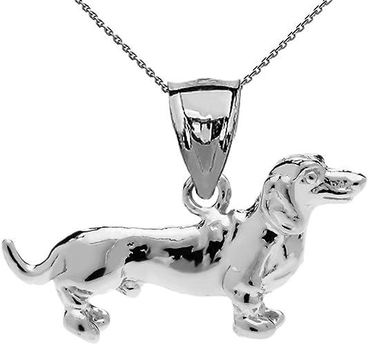 NEW STERLING SILVER 925 TINY LIGHTWEIGHT DACHSHUND DOG CHARM//PENDANT