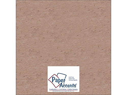 accent design paper accents adp1212 – 25.Chip 20 punto 12' x 12' Natural de aglomerado cartulina