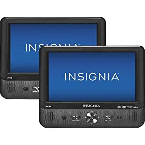 "Insignia 9"" Dual Screen Dual Disc Portable DVD Players"
