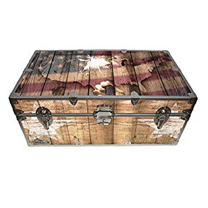 C&N Footlockers Designer Trunk - Fourth of July Americana Storage Trunk - 32x18x13.5 Inches