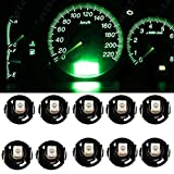 Elegantstunning 10Pcs T4.2 12V LED Dashboard Instrument Panel Indicator Light Bulb Car Instrument lamp for Car Cab Marker Light,Green Light