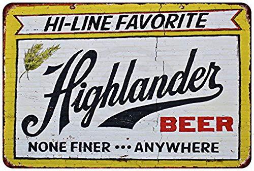 KPSheng Custom Kraze Highlander Beer Vintage Reproduction Metal Sign 8 x 12 - Highlander Beer