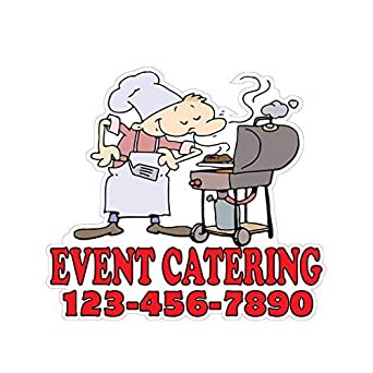 Catering Available Concession Restaurant Food Truck Die-Cut Vinyl Sticker