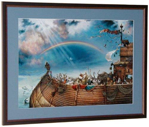 Tom duBois The Promise Hand Signed by The Artist MATTED & Framed Noah's Ark - Signed Artist Framed