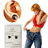 Auwer Earring,1 Pair Bio Magnetic Healthcare Earring Weight Loss Earrings Slimming Ear Healthy Stimulating Acupoints Stud Earring Magnetic Therapy (Black)