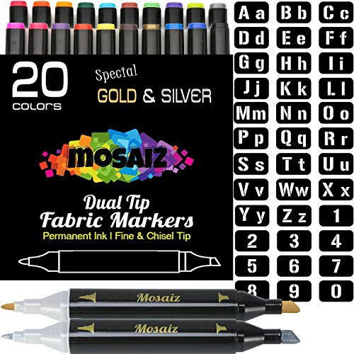 Large Set Dual Tip Fabric Markers (with Gold and Silver) for sale  Delivered anywhere in USA