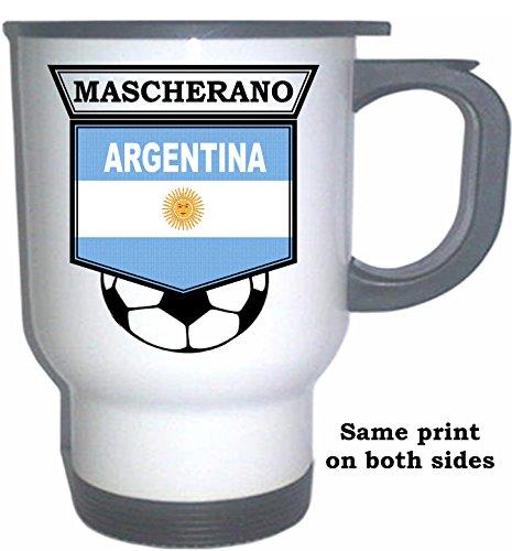 Javier Mascherano (Argentina) Soccer White Stainless Steel Mug
