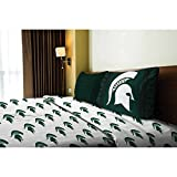 NCAA Michigan State University Spartans Bed and Bath Collection (Twin Sheet Set)