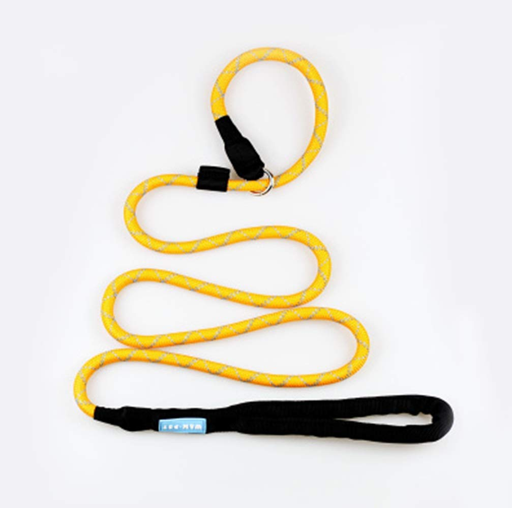 YYi-kuG Pet Supplies Traction Rope Dog Chain Training Dog Medium Dog Equipment Traction Belt Rope (Color : Yellow, Size : 180CM)