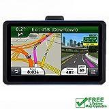 Car GPS, 7 inch Portable Navigation System for Cars, Lifetime Map Updates, Real Voice Turn-to-Turn Alert Vehicle GPS Sat-Nav Navigator, On-Dash Mount, Sun Shade