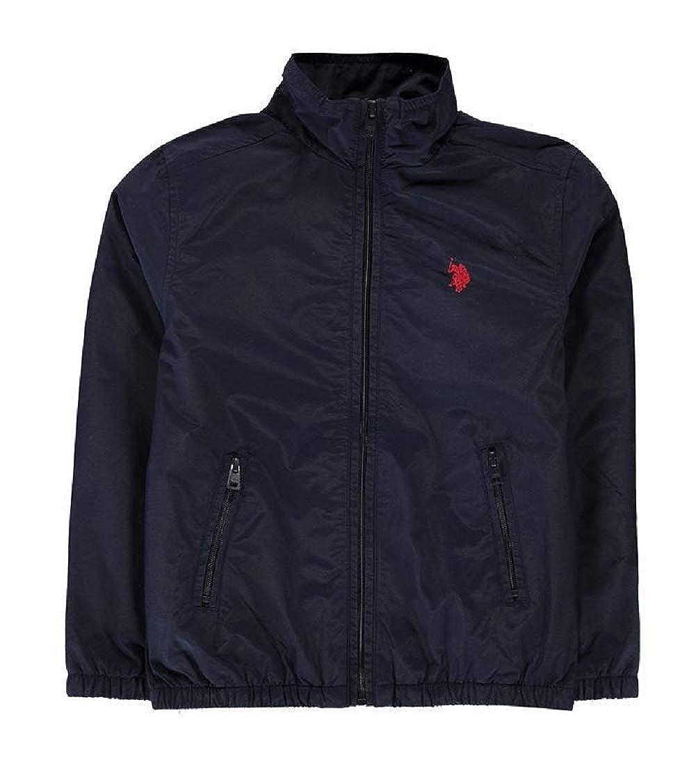 Boys Black Funnel Neck Jacket U.S Polo Assn