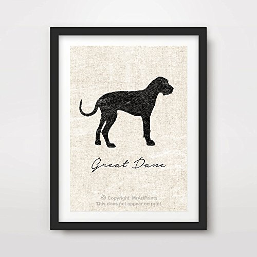 - GREAT DANE DOG ART PRINT POSTER Breed Silhouette Pets Home Decor Wall Picture A4 A3 A2 (10 Sizes)