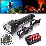 Flashlight,Baomabao 8000Lm 3x XM-L2 T6 Underwater 100M Scuba...