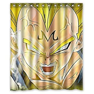 Vegeta majin dragonball z anime custom shower for Dragon ball z bathroom