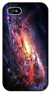 iPhone 4 / 4s Swirling Galaxy - black plastic case / Space, Stars, Fantasy