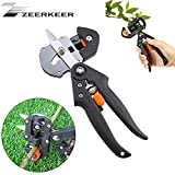 Garden Fruit Tree Professional Prune Shear Snip Grafting Cutting Tool with 2 Extra Blades