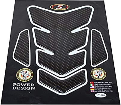 3D Motorcycle Carbon Vinyl Gel Gas Tank Pad Protector Decal and Sticker Tankpad