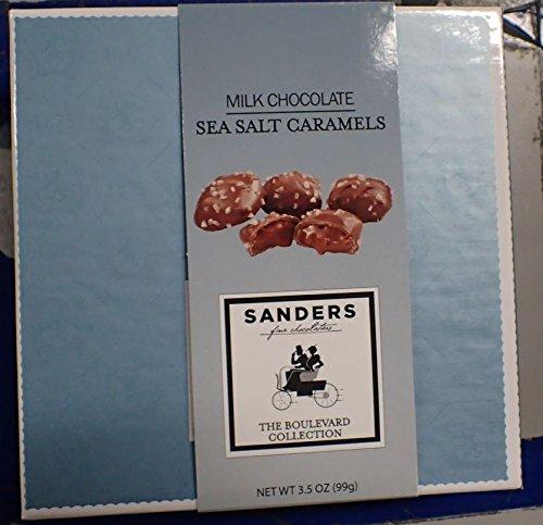 Sanders Milk Chocolate Sea Salt Caramels In a Decorator Box (7 pcs.), 3.5 oz. # 28037
