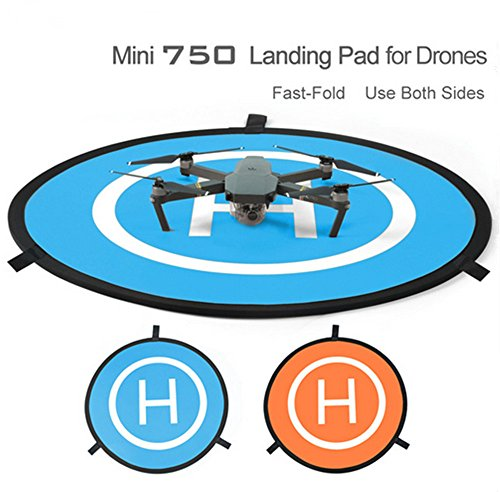 Mini Rc Helicopter Case (gouduoduo2018 75cm PGY RC Drone launch pad Quadcopter Helicopter Mini landing pad helipad Dronepad DJI Mavic phantom 2 3 4 inspire 1 protective)