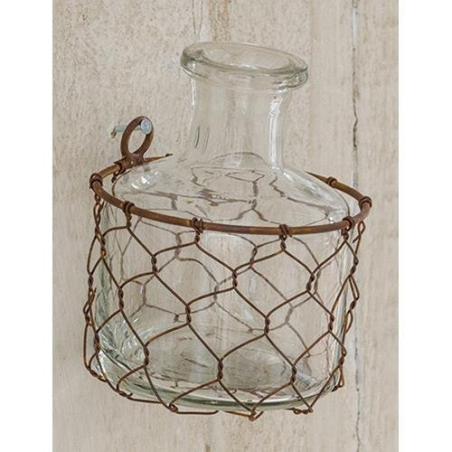 Heart of America Mini Round Chicken Wire Vase