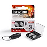 Alpine Hearing Protection PartyPlug Ear Plugs for Loud Music Environments, Clear