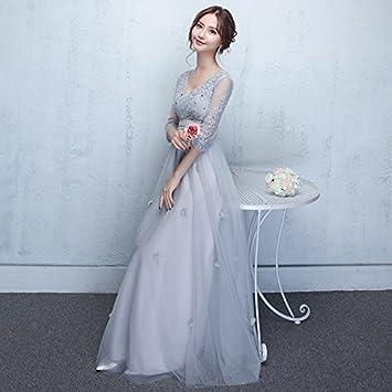 JKJHAH Mujer Embarazada V-Collar Dama De Honor Banquete Femenino, A, S