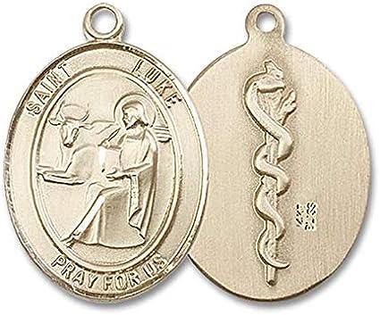 14kt Gold St Luke the Apostle Medal