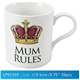 Mum Rules White Novelty Sentimental Mug with Presentation Box by Rules Range