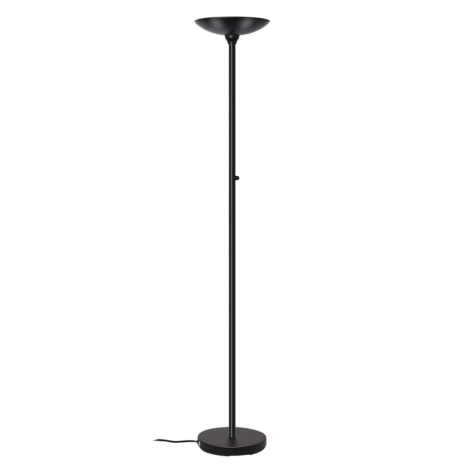 Floor Lamps, SUNLLIPE LED Torchiere Floor Lamp 24W, Dimmable Modern Tall Standing Pole Uplight Torch Floor Light for Living Room, Bedrooms, Office,Jet Black