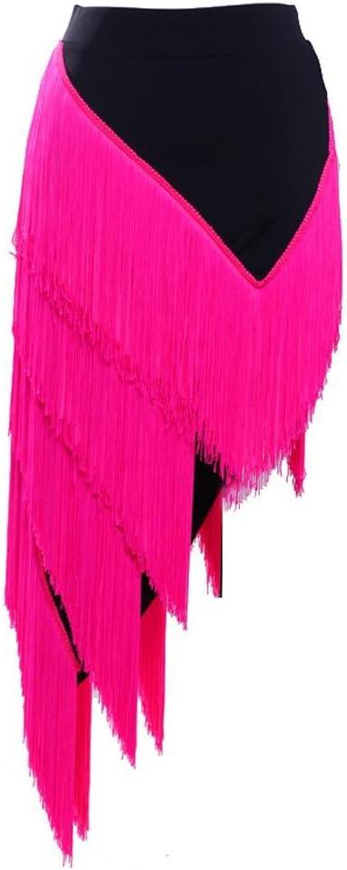 Wangmei Debajo del Vestido Borla Baile Latino Falda Formación ...