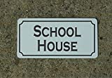 School House Vintage Style Metal Sign Decor