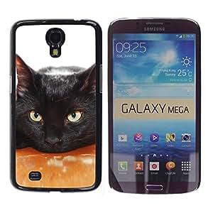 Be Good Phone Accessory // Dura Cáscara cubierta Protectora Caso Carcasa Funda de Protección para Samsung Galaxy Mega 6.3 I9200 SGH-i527 // Black Cat Pet Feline House Nebelung
