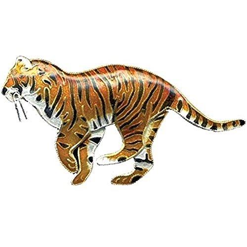 Tiger Cloisonne Pin Bamboo