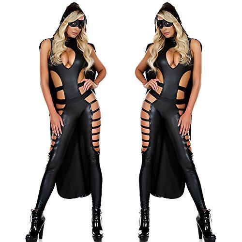 Stretti Night Club Vestito Wear Gatta Costume Sexy Tuta Latex XSQR Catwoman Body Club xwzqIPFzf