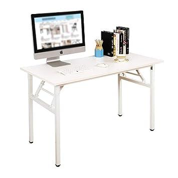 Mesa Trabajo Plegable Ordenador Oficina De Puesto Dlandhome Despacho120x60cmBlanco Escritorios Estudio Escritorio FclKJ1