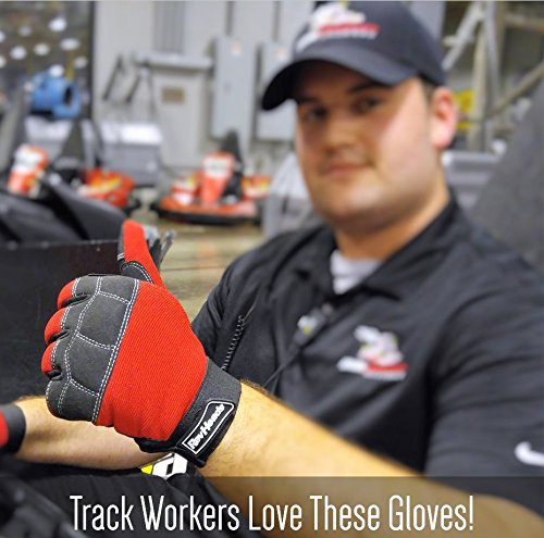 MECHANIC GLOVES For Working On Cars - Work Safety Gloves Protect Fingers And Hands - Large Size Fits Most Men, 1 Pair by RevHeads (Image #5)