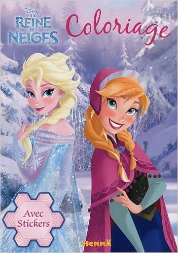 Livre Coloriage Reine Des Neiges.Disney La Reine Des Neiges Coloriage Avec Stickers Amazon Fr