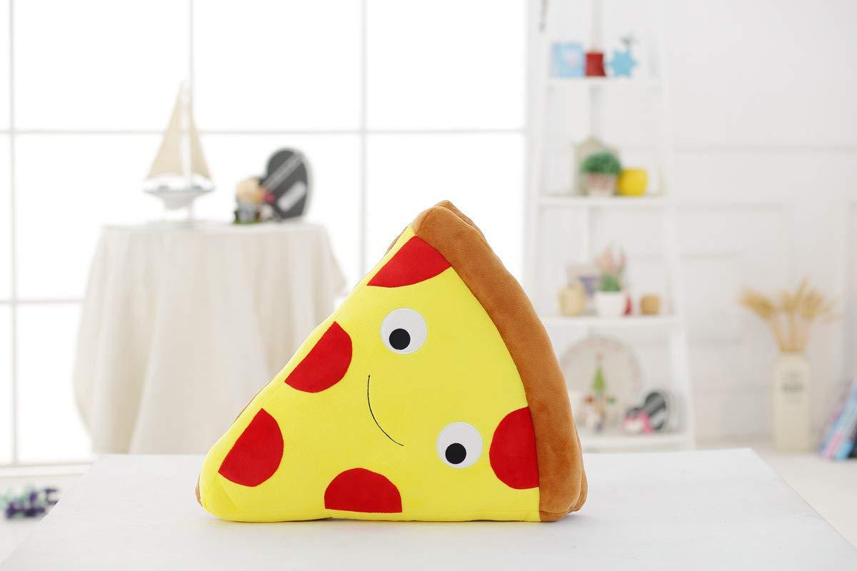 Zeichentrickfiguren djxgnbm Plüschtiere Simulation Pizza Plüschkissen Kissen Dining 50cm Plüschpuppen