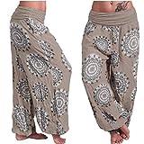 Ankola Wide Leg Harem Yoga Pants Womens Comfy Wide Leg Palazzo Pants Mid Waist Casual Loose Lounge Pants (4XL, Khaki)